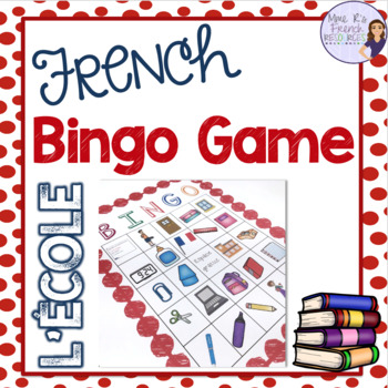 French bingo school supplies L'ÉCOLE