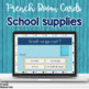 French school supplies task cards BOOM CARDS LES FOURNITURE SCOLAIRES