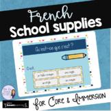 French school supplies digital task cards BOOM CARDS FOURN