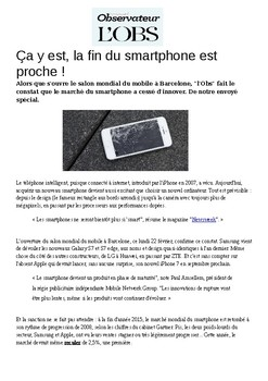 French science & Technology technologie text question social media smartphone