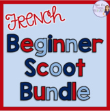 French scoot game and task card bundle - for beginners