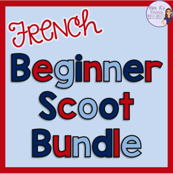 French scoot game and task card bundle CARTES À TÂCHES