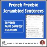 French scrambled sentences ER VERBS Passé Composé - Negation Distance Learning