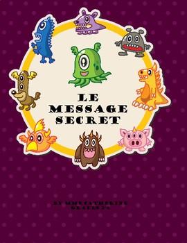 French secret message. Secret Message. Math. Addition. 5