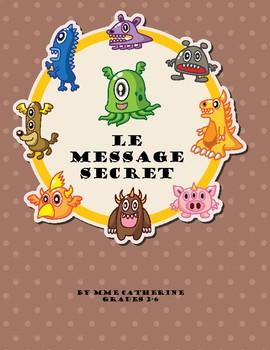 French secret message - math subtraction 3