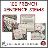 French sentence starter prompts - 100 French sentence stem