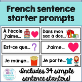 French sentence starter prompts