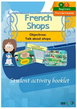 French shops, les magasins printable activities