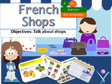 French shops, les magasins interactive activities