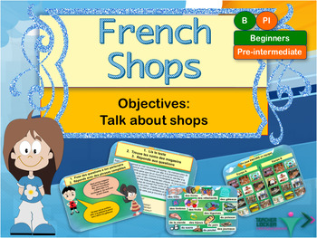 French shops, les magasins: interactive activities and printables