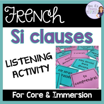 French si clause game-future and conditional/ le futur simple et le conditionnel
