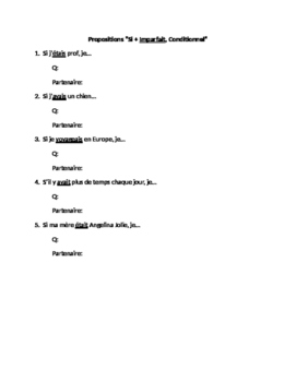 French si clauses : practice