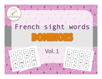 French sight word dominoes vol.1