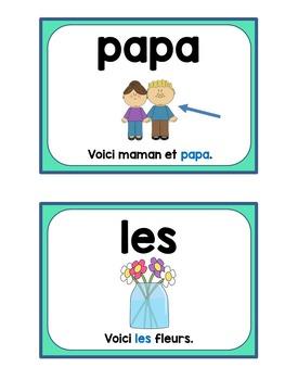 French sight word flashcards - Les mots de haute fréquence