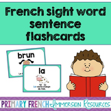 French sight word flashcards - Les mots de haute fréquence