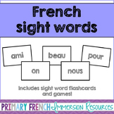French sight word flashcards and games