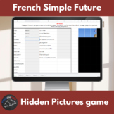 French simple future verbs - Hidden pictures game