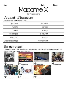 French song INTERMEDIATE listening activity: MADAME X (@ homelessness)