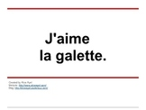 French song: J'aime la galette