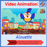French Immersion - song in video animation - Alouette, gen