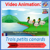 French Immersion - song in video animation - Trois petits