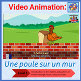French Immersion - song in video animation - Une Poule sur