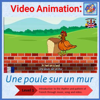 French song in video animation - Une Poule sur un Mur - po