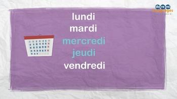 French Days and Months Song Video - vidéo les jours et les mois en français