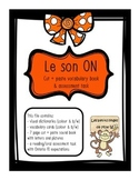 """French sound blend """"ON"""" activity pack - le son on"""