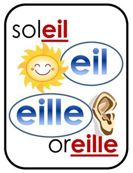 French sounds posters / Affiches des sons en français - Part 2
