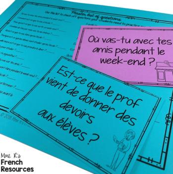 French speaking activity ALLER & VENIR