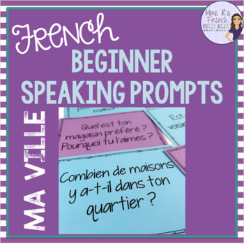 French speaking activity MA VILLE for beginners