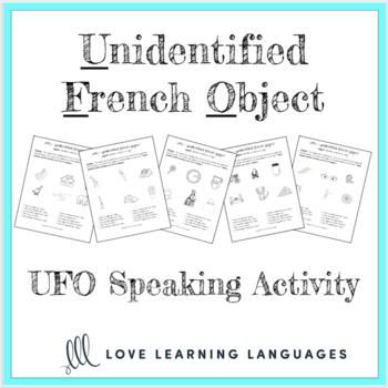 French speaking activity - Unidentified French Object Paired Activity