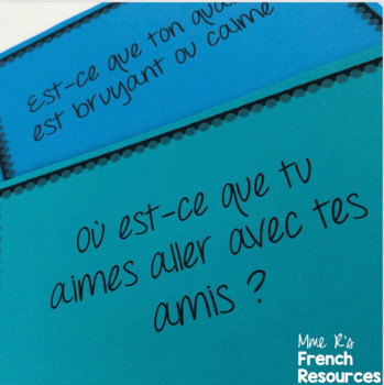French speaking activity - city vocabulary / en ville