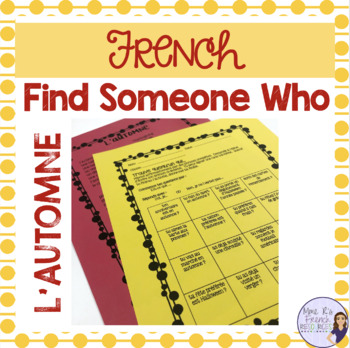 French speaking activity fall find someone who  AUTUMNE