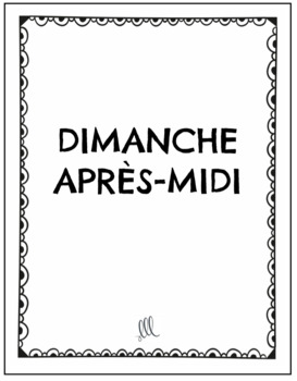 French speaking game - Tell me 3 things - Dis-moi trois choses