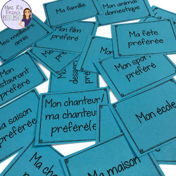 French speaking activity for beginners