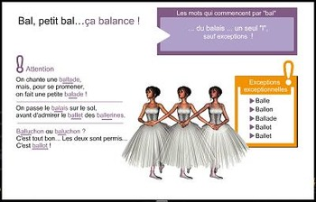 """French speeling and grammar in songs, Orthochanson """"Bal, petit bal"""""""