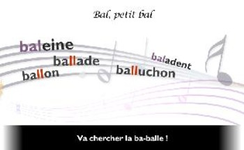 "French speeling and grammar in songs, Orthochanson ""Bal, p"