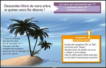 "French spelling and grammar, Orthochanson ""Mon île"""