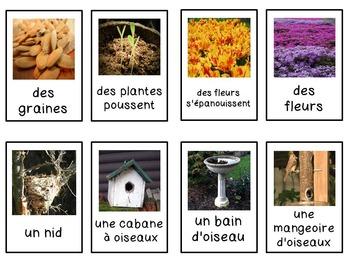 French spring bingo game
