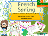 French spring (animals, flowers, vegetables) le printemps