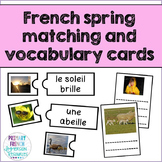 French spring / le printemps - matching game and centre cards