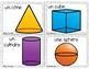 French spring math 3D shapes: Les solides~Printemps