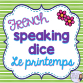 French spring speaking activity ACTIVITÉ ORALE LE PRINTEMPS