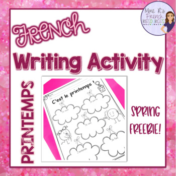 French spring writing activity - free