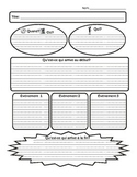 Story map and retell graphic organizers for French immersion