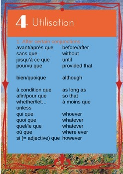 French subjunctive booklet