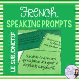 French speaking activity - subjunctive speaking prompt task cards