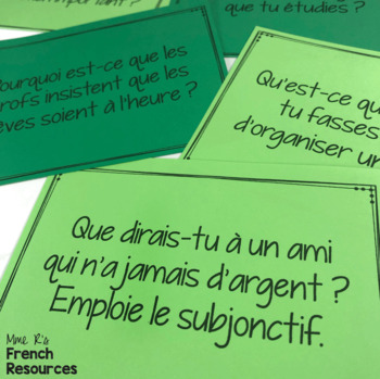 French speaking activity - subjunctive COMMUNICATION ORALE LE SUBJONCTIF